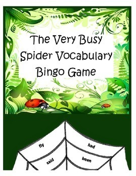 The Very Busy Spider Bingo Reading Activity