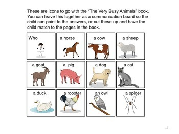 The Very Busy Spider Companion/Activity Pack--Special Education/SLP