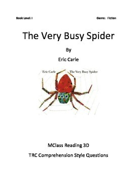 The Very Busy Spider Comprehension Questions