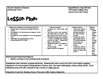 The Very Busy Spider Lesson Plan and Template by Demetria ...