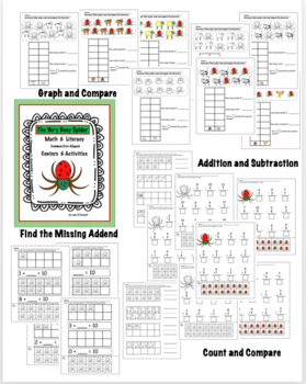The Very Busy Spider Literacy & Math Activities and Centers