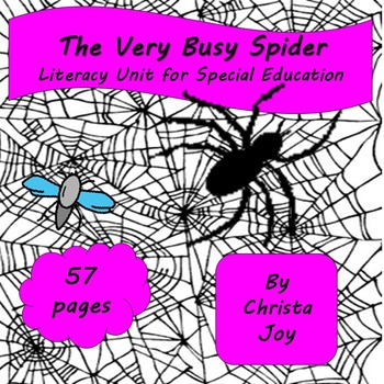 The Very Busy Spider Unit for Special Education