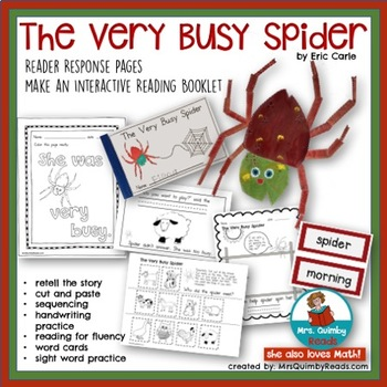The Very Busy Spider - Reader Response Pages- Sight Word Practice