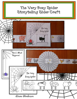 The Very Busy Spider Sequencing & Storytelling Craftivity