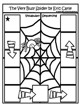 The Very Busy Spider (6) Spatial Concept & Sequence Activities