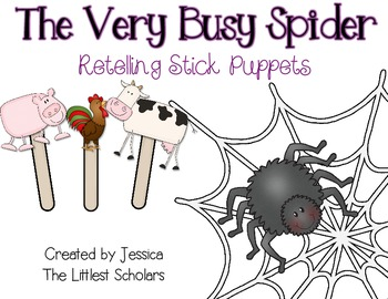 The Very Busy Spider Stick Puppets