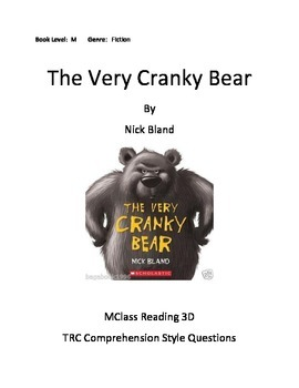 The Very Cranky Bear Comprehension Questions