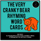 The Very Cranky Bear Rhyming Word Cards