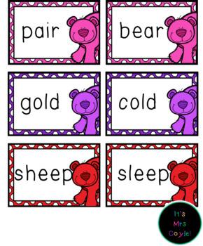 The Very Cranky Bear Rhyming Word Cards