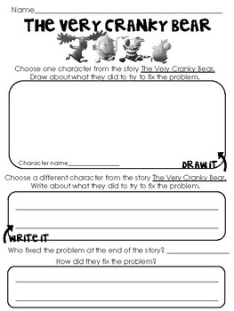 The Very Cranky Bear Teaching Resources | Teachers Pay Teachers