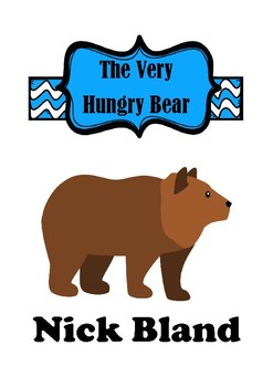 The Very Hungry Bear Activities