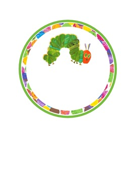 The Very Hungry Caterpillar 6'' label