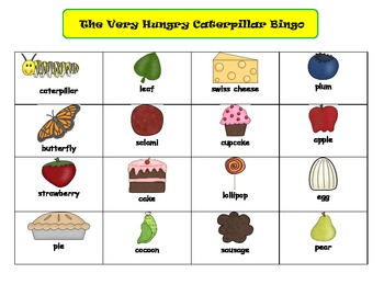The Very Hungry Caterpillar: A Receptive and Expressive La