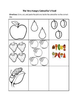 The Very Hungry Caterpillar Activity Clip Art