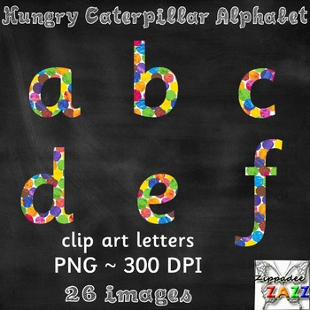 Watercolor Alphabet Clipart for Bulletin Boards