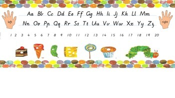 The Very Hungry Caterpillar Alphabet Desk Strip