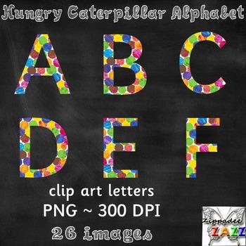Watercolor Alphabet UPPERCASE Clipart