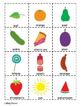 The Very Hungry Caterpillar Bingo Game