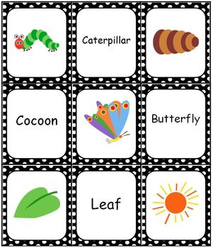 The Very Hungry Caterpillar Bingo Memory Match Domino Game Set
