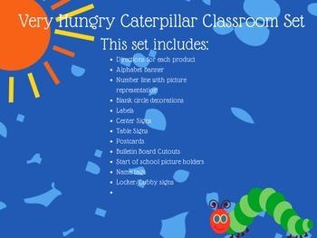 The Very Hungry Caterpillar Classroom Decor Set