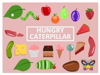 The Very Hungry Caterpillar Clip Art By Empty Jar Illustrations Tpt