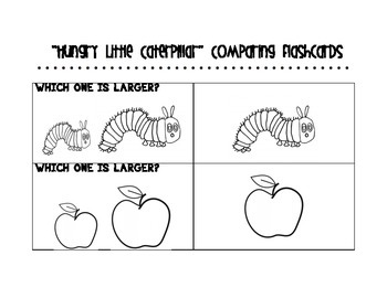 The Very Hungry Caterpillar Comparing Flashcards