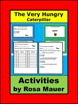 Very Hungry Caterpillar Comprehension Activity