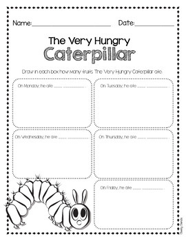 free printable activities for the very hungry caterpillar