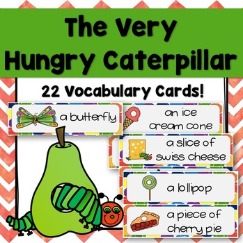 The Very Hungry Caterpillar English Word Wall Cards