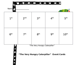 The Very Hungry Caterpillar Event Sequencing