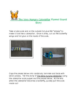 """""""The Very Hungry Caterpillar"""" Flannelboard and Puppet Story"""