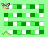 The Very Hungry Caterpillar Game Board with Ten Frames for Math Centers