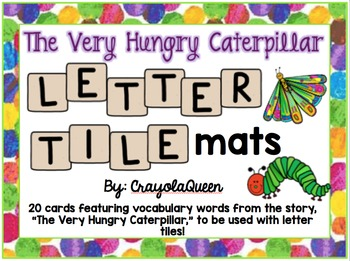 The Very Hungry Caterpillar Letter Tile Mats