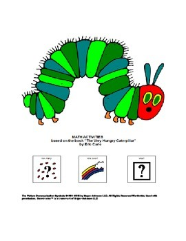 The Very Hungry Caterpillar Math Activities for Pre-K and Kindergarten Autism