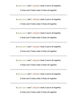 The Very Hungry Caterpillar Math Craft Subitizing 5