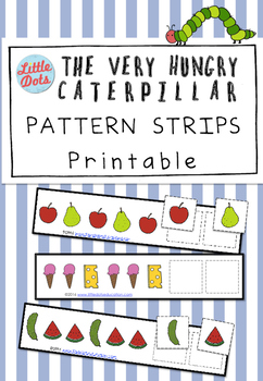 The Very Hungry Caterpillar Patterns Strips Printable