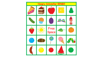 The Very Hungry Caterpillar Picture Bingo