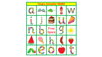 The Very Hungry Caterpillar Picture and Letter Bingo
