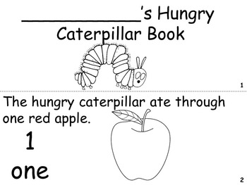 The Very Hungry Caterpillar Pocket Chart - Literacy Station Activity