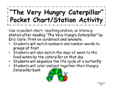 The Very Hungry Caterpillar Pocket Chart - Literacy Statio