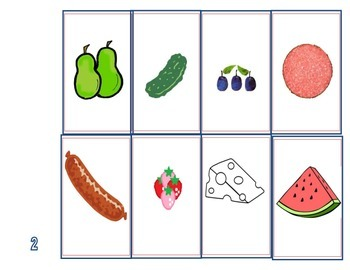 The Very Hungry Caterpillar Recall/Sequencing Activity