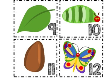 The Very Hungry Caterpillar Retelling Sticks FREE