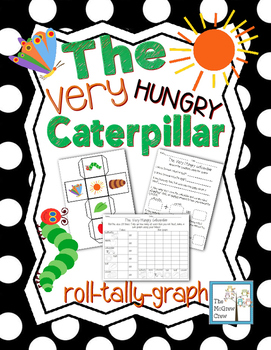 The Very Hungry Caterpillar Roll Tally Graph Math Center Activity Set