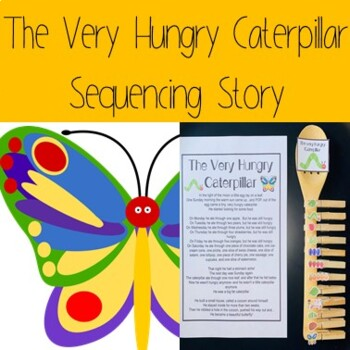 The Very Hungry Caterpillar Sequencing Story
