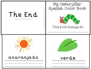 The Very Hungry Caterpillar Spanish Color Writing Mini-Book Reader