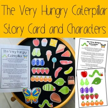 The Very Hungry Caterpillar Story Card and Characters