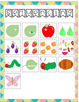The Very Hungry Caterpillar- Speech and Language Story Companion