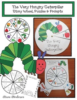 The Very Hungry Caterpillar Story Wheel Puzzles & Prompts