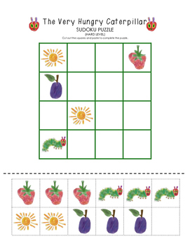 The Very Hungry Caterpillar Sudoku Puzzle (Hard Level)