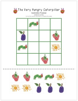 The Very Hungry Caterpillar Sudoku Puzzle (Medium Level)